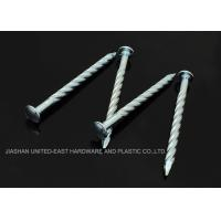 "Best Needle Point Electro Galvanized Twisted Nails 4"" X BWG7 Twisted Shank Nails Resist Corrosion wholesale"