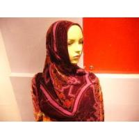 Best Fashion Floral Burnt-out Silk Hijab Scarf wholesale