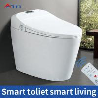 China American Standard Bathroom Smart Toilet , One Piece Round Toilet 520 Mm Height on sale
