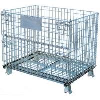 Best Foldable  Logistics  Wire Mesh Storage Containers With 1/2 Front Drop Gate wholesale