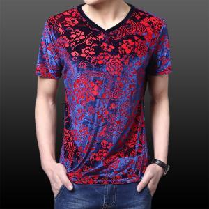 China Hot sale Men's v-neck long-sleeved T-shirt shirt on sale