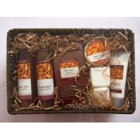 Best Natural Pear Fragrance Bubble Bath Gift Set in Basket with Body Lotion 100ml for Women wholesale