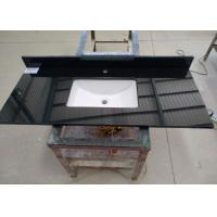 Best Black Commercial Bathroom Countertops Durable With Squared Sink wholesale