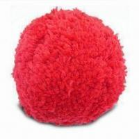 Buy cheap Pom-pom/Wool Ball with 6 Bright Colors, Available in 75 and 100mm Sizes from wholesalers