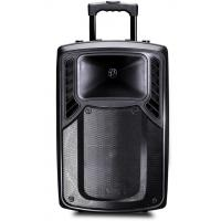 Buy cheap Rechargeable Plastic Portable Trolley Speakers , Portable Active PA Speaker product