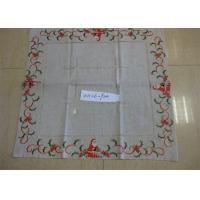 Best Christmas Design Linen Hemstitch Tablecloth Beautiful For Adult Age Group wholesale