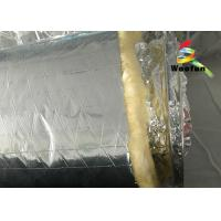 Best Air Conditioning Aluminium Fire Retardant Flexible Round Duct Insulation Wrap Lightweight Yellow Cotton wholesale