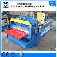 Best Galvanized Glazed Tile Roll Forming Machine High Reliable Hydraulic Pump wholesale