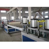 China High Efficiency PVC Foam Board Machine , Double Screw Plastic Board Extrusion Line on sale