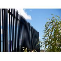 Pre - Galvanized Iron Spear Top Fencing Black Metal Fence Panels