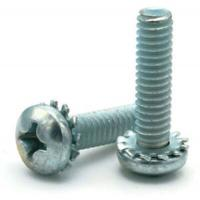 China Stainless Steel Pan Head Screws with External-Tooth Lock Washer on sale