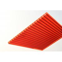 Best Red Solid Polycarbonate Sheet / Durable Polycarbonate Patio Roof Panels wholesale