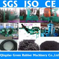 China waste tyre recycling machine for producing rubber powder on sale
