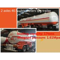 Best China famous CLW Double axle lpg road tanker trailer 40.5cbm Propane tanker trailer 17ton  lpg Road tanker for sale, wholesale