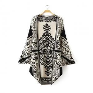 Best European fashion  jacquard shawl knitting cloak double side wear  womens