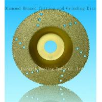 China Brazed Diamond cutting and grinding disc on sale