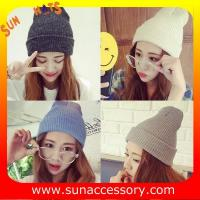 Best AK17017 Sun Accessory promotion cheap knitted beanie hats for girls ,caps in stock MOQ only 3 pcs wholesale