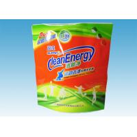 Best Custom Printed Stand Up Pouches , washing powder packaging bags With Three Handles wholesale