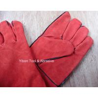 """Best High quality 14"""" Red color Cow Split Welding Gloves/Safety Gloves / Working Gloves wholesale"""