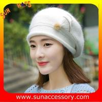 Best QF17002  Sun Accessory customized fashion knitted beanie hats for ladies  ,Hats in stock MOQ only 3 pcs wholesale