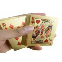 Best PVC Material 24K Gold Playing Cards Poker Game Deck Gold Foil Poker Set wholesale