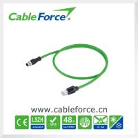 Buy cheap Industrial Ethernet cable connectors M12 D Coded male connector to RJ45 male plug product