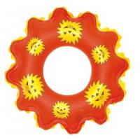 Best New style fashion Sun flower shape inflatable swim ring for child wholesale