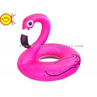 Best Foldable Flamingo Inflatable Water Floats With Logo / Banner Printing wholesale