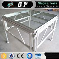Best Fashion Show Aluminum Glass Stage With Mobile Legs wholesale