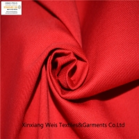 China Red Mid Weight Cotton Fire Resistant Cloth FR Twill OEM For Safety Workwear on sale