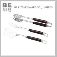 China 3 PCS New Stainless Steel BBQ Tools Set (BE-20008) on sale