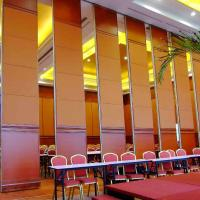 Best High Sliding Wood Panel Operable Acoustic Room Dividers 65mm Thickness Fireproof wholesale