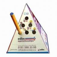 Best Advertising Pop-up Pyramid Paper Pen Holder, Made of 500 Microns Box Board wholesale
