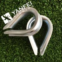 China Stainless Steel European Type Wire Rope Thimble For Wire Rope on sale