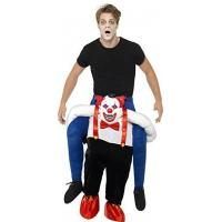 Best Men Halloween Sinister Clown Piggy Back Animal Mascot Costumes wholesale