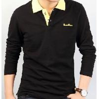 China Men Long Sleeve Polo T Shirt on sale