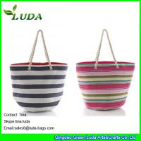 China paper straw designer personalized beach bags on sale