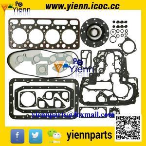 China Kubota V1702 V1702BA engine rebuild parts piston +ring+full gasket kit with head gasket for BOBCAT CLART 743 SKID LOADER on sale