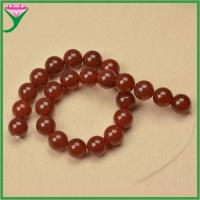 Best 16mm smooth polished round ball shape semi precious natural dark red fire agate wholesale