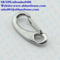 Cheap stainless steel 40mm,50mm 70mm,100mm Spring Snap Clip Hook Eye End/egg shaped for sale