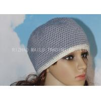 China Alpaca Crochet Womens Hat Washable Ladies Crochet Hats With White Hat Brim on sale