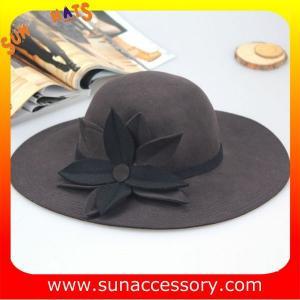 Best 8300400 Sun Accessory customized  winner  fashion 100% Australia wool felt floppy hats, women hats and caps wholesaling wholesale