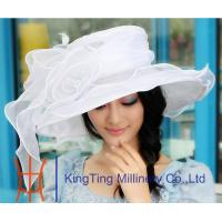 Best Handmade breathable Sinamay Organza Womens church hats for t - show wholesale