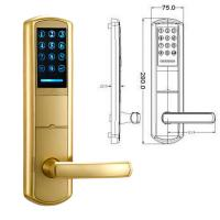 Best High Security Zinc Alloy Door Handle Lock Smart Key Password intelligent Door Lock wholesale