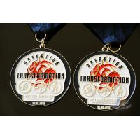 Best Riding Running Walking Sports Trophies And Medals Casting Mold And Navy Blue Ribbon wholesale