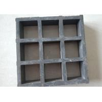 Best Black Fiberglass Grating Panels , Fiberglass Stair Treads Skid Resistance wholesale