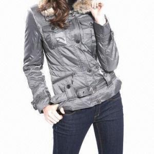 Best Women's down jacket with detachble fur neck wholesale