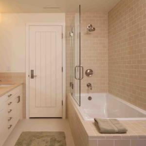 Best PVC MDF Interior Wood Composite Door Natural Wood Veneer Right / Left Opening Direction wholesale