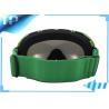 China UV  Anti Slip Green Liquid Image Anti Fog Ski Goggles Silver Chroming wholesale