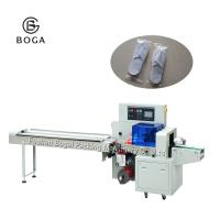 China BG-350X engineers available to service machinery overseas disposable slippers packaging machine on sale